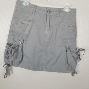 prAna Gray Organic Cotton Cargo Skirt